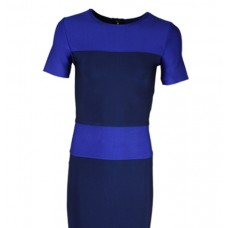 Casual Half Sleeves Day Dress- Blue