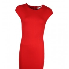 Round-Neck Half Sleeve Stylish Wool-Crepe Dress