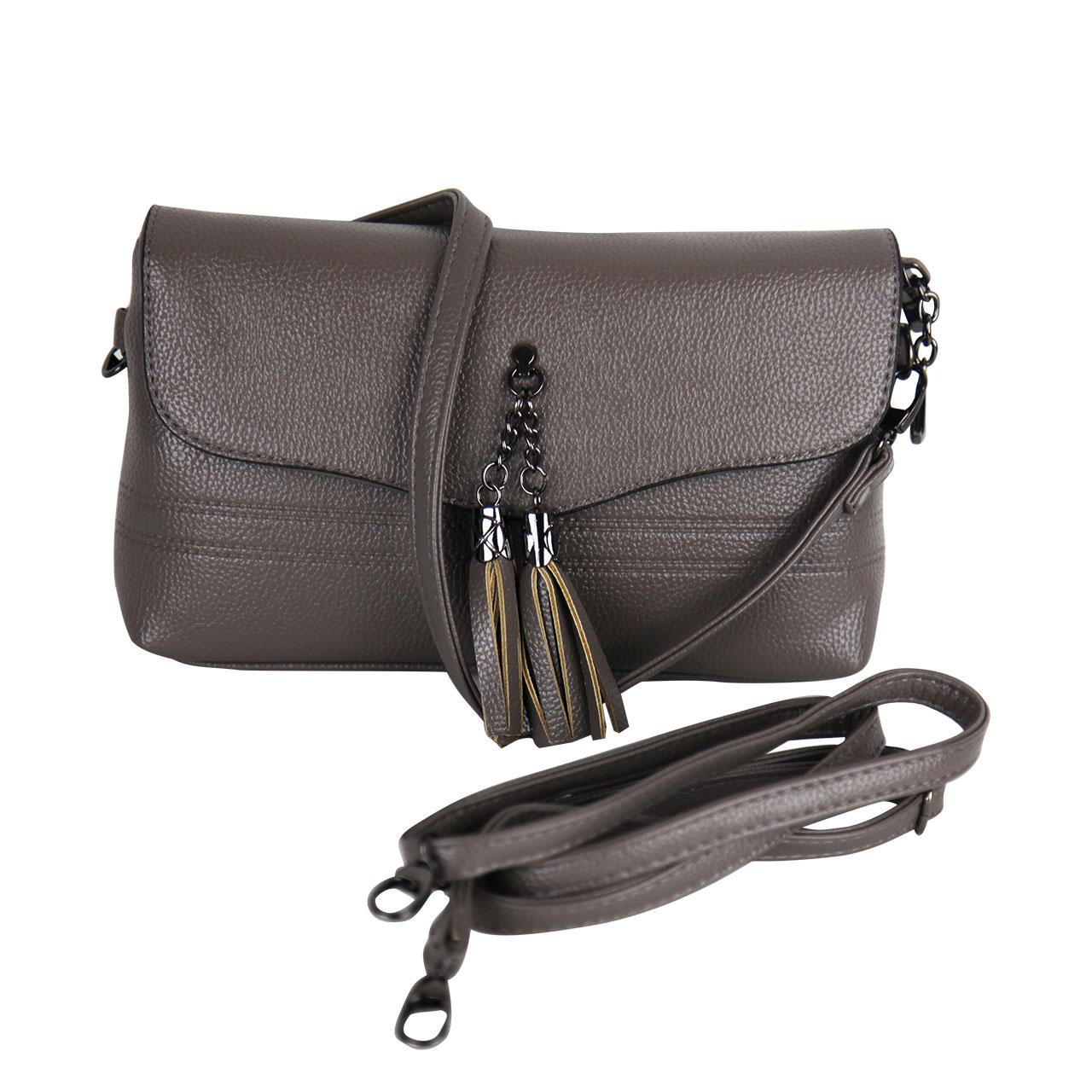 Classy Ash Clutch Luxury Leather Crossbody Bag With Wide Strap For Women